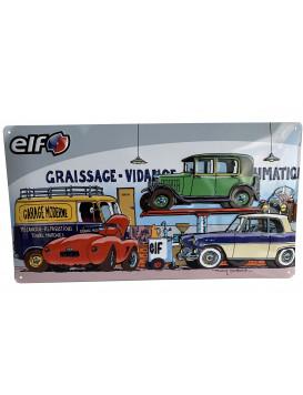 """Plaque émaillée """"Garage..."""