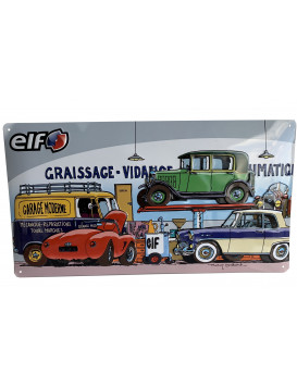 "Enamelled plaque ""Garage..."