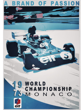 "Enamelled plate ""Monaco 1973"""