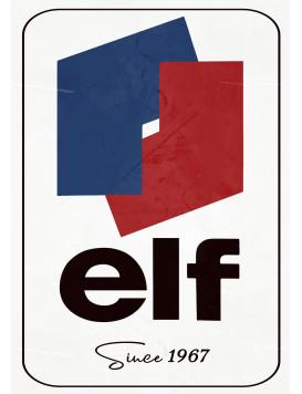 """Enamel plate """"ELF since 1967"""""""