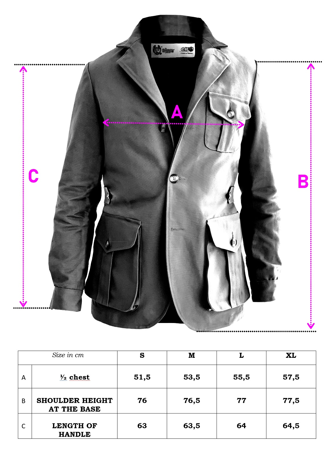 SIZE GUIDE DGR JACKET ELF